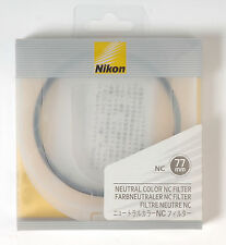 Filtro de color neutro Nikon NC Neutral Color filter protection UV 77mm
