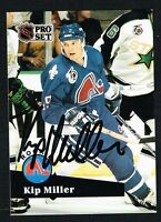 Kip Miller #555 signed autograph auto 1991-92 Pro Set Hockey Trading Card