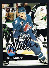 Kip Miller #555 signed autograph auto 1991-92 Pro Set Hockey Trading Card
