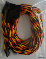 5 Pack: (5) 90CM Twisted 22awg Servo Extensions Lead JR / Hitec