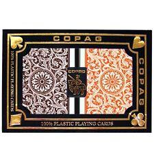 Copag Poker Size Regular Index 1546 Playing Cards (Orange/Brown) New