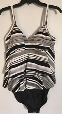 Magicsuit Appear Slimmer Black & White Size 10 1-PC Beautiful Swimsuit  NWT$150