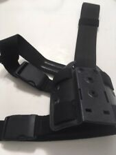 SAFARILAND DOUBLE LEG STRAP HOLSTER SHROUD BLACK  NEW !!