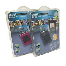 Shift 3 Digital Photo Album with Key Chain Holds 60 Photos NEW LOT OF 2