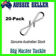 20-Pack Twin Links Quick Change Rigs Sinkers Landbased Fishing Australian Stock