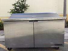 "True Tssu-60-16-60"" Two Door Height Sandwich / Salad Prep Refrigerator"