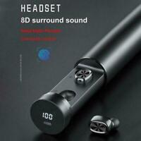 TWS Mini Bluetooth 5.0 Headphones Wireless Earphones Smart Earbuds Headset O2C6