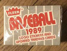 FACTORY SEALED FLEER 1989 BASEBALL 22 STICKERS AND 132 CARDS