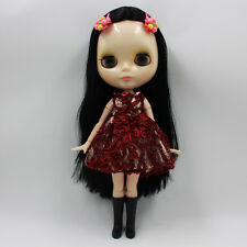 """Takara 12"""" Neo Blythe Black Hair Joint body Nude Doll from Factory TBY220"""