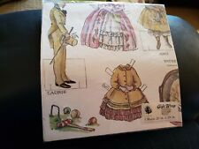 Vintage Little Women Paper Dolls Gift Wrap 3 Sheets 20x28 inch Evergreen Press