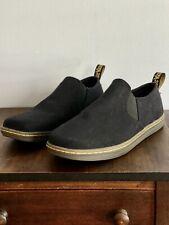 Dr. Martens Dale AirWair Black Canvas Slip On Sneakers Shoes Men's Size US 10