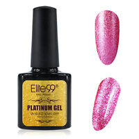 Elite99 Platinum Nail Gel Polish UV LED Soak Off Shimmer Bling Lacquer Base Top