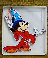 Vintage Disney Mickey Mouse Wizard Hat Wood Christmas Ornament Kurt Adler