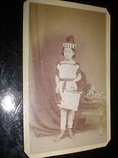 Cdv photograph girl in herald fancy dress costume Spanton Bury St Edmunds 1870s