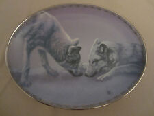 Wolf Collector Plate Gentle Approach Lee Cable Nature'S Tenderness #4 Wolves