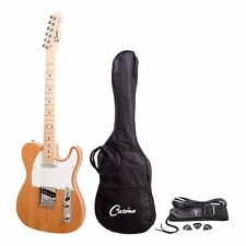 NEW Casino TL Style Beginners Electric Guitar Set Gig Bag (Natural Gloss)