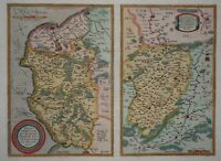 Caletensium / Veromanduorum - Calais / Saint-Quentin- Ortelius 1608 - Original