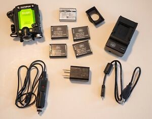 OLYMPUS action camera TG-Tracker Green USED - Very Good + 5batteries +Charger