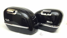 BMW 2004 R1200CL LEFT & RIGHT SADDLEBAG LUGGAGE BAG BOX W/ KEY BLACK - VIDEO!