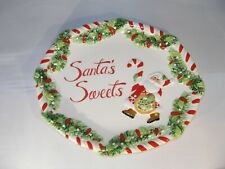 """Fitz & Floyd """"Candy Cane Santa"""" Plate for Cookies and Other Treats"""
