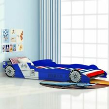 vidaXL Children's Race Car Bed 90x200cm Blue Kids Toddler Race Car Bed Frame