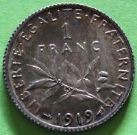FRANCE 1 FRANC SEMEUSE 1919