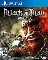 PLAYSTATION 4 PS4 VIDEO GAME ATTACK ON TITAN BRAND NEW AND SEALED