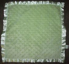 Green Minky Dot Baby Security Blanket Bearington Baby Bear Lovey