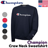 Champion GF88H Power Blend Men's Crewneck Sweatshirt Script Logo