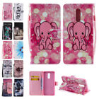 Leather Color Painted With Strap Flip Wallet Case Cover Fr LG G8thinQ/K7/K10/V50