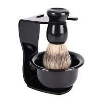 3 In 1 Shaving Soap Bowl +Shaving Brush+ Shaving Stand Men Beard Cleaning Too JR