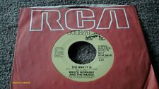 BRUCE HORNBY AND THE RANGE The Way It Is b/s PROMO 45 Long/Short