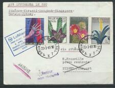 Belgien Lufthansa Luftpost-Brief via Athen - Sydney, 1965