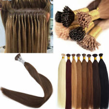 """Hot Keratin Fusion I Stick tip Remy Human Hair Extensions 16""""18""""20""""22"""" 24"""" 100S"""