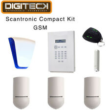 Scantronic Inalámbrico I-en el panel compacto Kit Gsm Communicator Pir Contacto De Puerta FOB