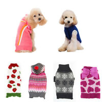 Xmas Sweater Dogs Snowflake Clothes Bow-knot Dog Cat Pullover Dachshund Costume