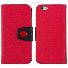 iPhone 6 iPhone FlipCase Case Handy Tasche Schutz Hülle Flip Etui Schale Rot