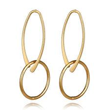 Ear Stud Alloy Ear Jewelry Gift Women Fashion Double Rings Round Dangle Earrings