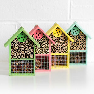 20cm Wall Mounted Wooden Insect House Hotel Bug Ladybird Nest Box Tree Garden