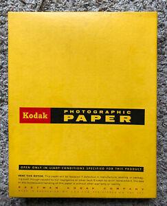 """Vintage KODAK Photographic Medalist F-2 Paper 8""""X 10"""" 100 Sheets - Exp June 1968"""