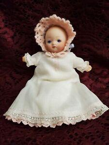 "Antique/Vintage German Bisque/Cloth Baby Doll Sleep Eyes 6"" Cute"