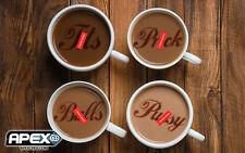Lot de 4 Rude Mot Café/Cappuccino Duster coquin adulte humour drôle rudemix 2