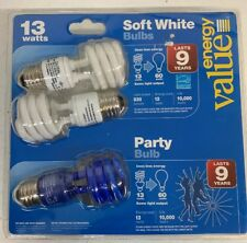 13-Watt Energy Saver Light Bulb 3 Pack, 60 Watt, Power Saver, Party Light