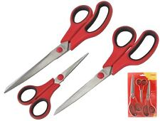 Amtech 3pc Stainless Steel Scissor Set Cutting Household Decorating DIY Kitchen