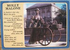 Irish Postcard MOLLY MALONE Statue Dublin Ireland Verse John Hinde 2/752 1997