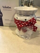 Scentsy New W/Box Valentine Full Size Wax Melt Burner Warmer Red White Polka Dot