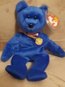 Official Clubby ty bear beanie baby RARE