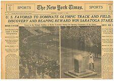 U.S Athletes Trump Nazi Salute to Hitler 1936 Berlin Olympics August 2 1936