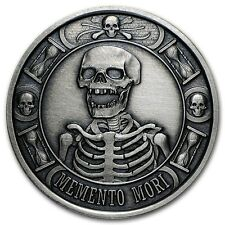 Memento Mori - The Last Laugh 1 oz .999 Silver Antiqued Finish Round USA Coin