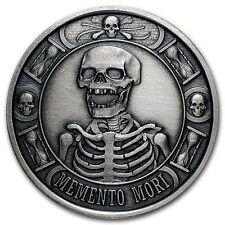 Memento Mori - The Last Laugh 1 oz .999 Silver Antiqued Finish Round USA Coin